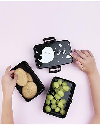 A Little Lovely Company Contenitore Porta Pranzo, Fantasmino - Senza BPA! Contenitori Latte e Snack