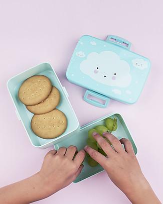 A Little Lovely Company Contenitore Porta Pranzo, Nuvola - Senza BPA! Contenitori Latte e Snack