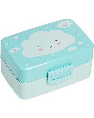 A Little Lovely Company Contenitore Porta Pranzo, Nuvola - Senza BPA! null