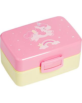 A Little Lovely Company Contenitore Porta Pranzo, Unicorno - Senza BPA! Contenitori Latte e Snack