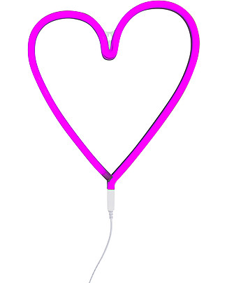 A Little Lovely Company LED Neon Light, Heart - Pink Wall Lamps