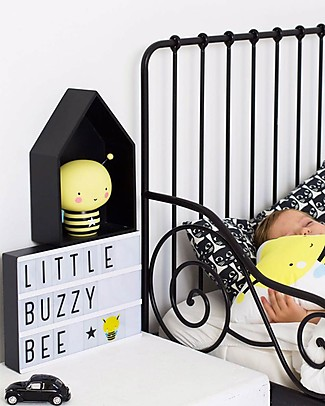 A Little Lovely Company Lightbox A4 con Alimentatore + 85 Lettere, Nero Lampade Comodino