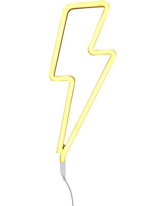 A Little Lovely Company Luce a Neon, LED, Fulmine - Giallo Lampade Da Parete