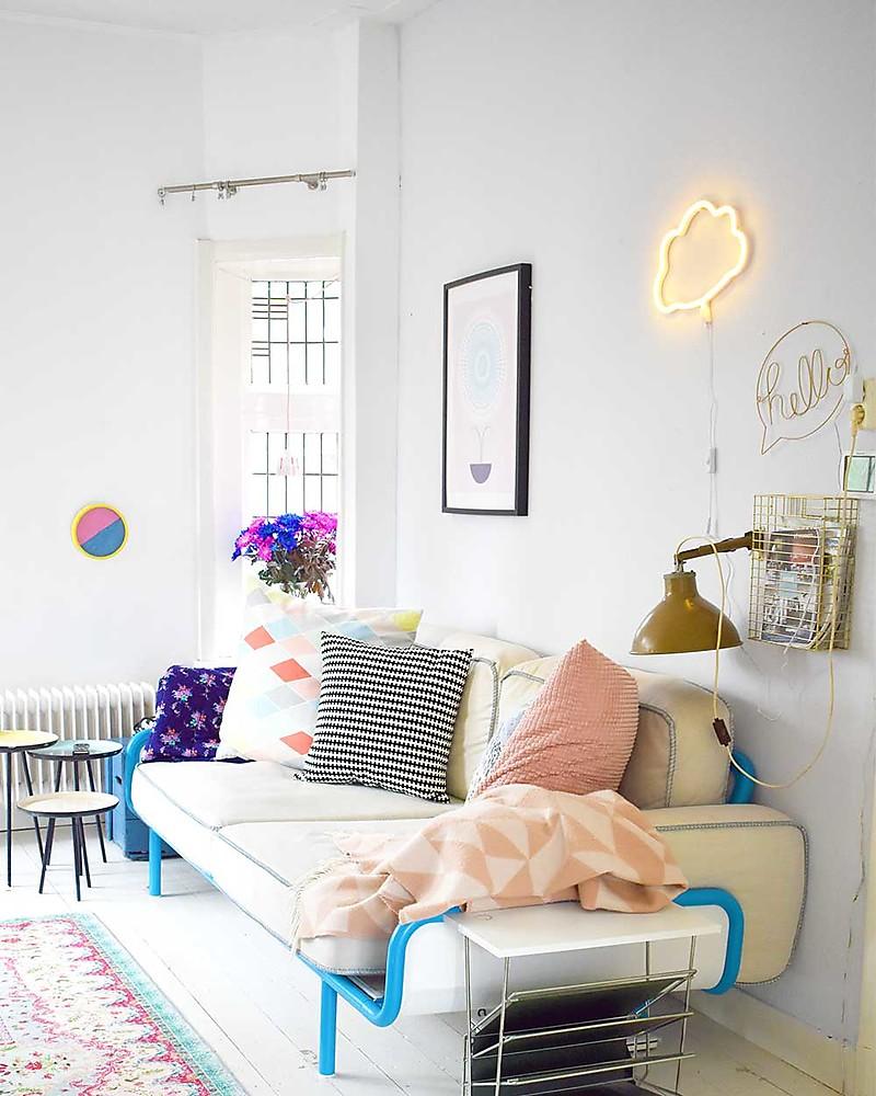 Lampade Al Neon Da Parete a little lovely company luce a neon, led, nuvola - giallo unisex