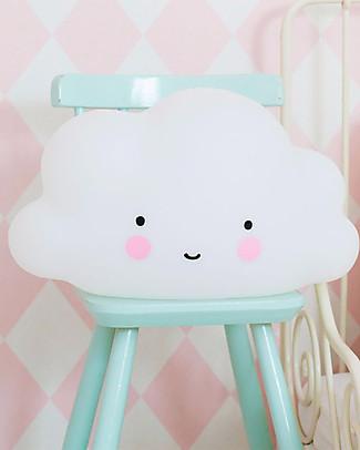 A Little Lovely Company Luce Grande LED, Nuvola - Bianco Lampade Comodino