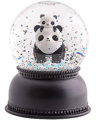 A Little Lovely Company Luce Grande LED, Palla di Neve, Panda - Nera Regalini