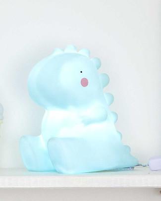 A Little Lovely Company Luce Grande LED, T-Rex - Celeste Lampade Comodino