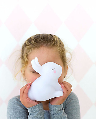 A Little Lovely Company Luce Piccola LED, Coniglietto - Bianco Lampade Comodino