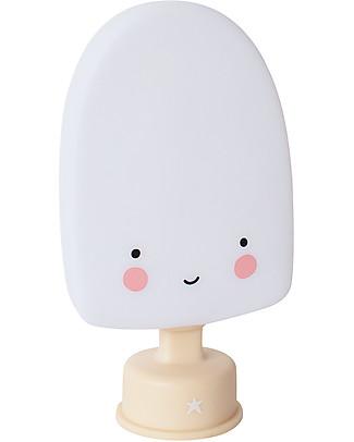 A Little Lovely Company Luce Piccola LED, Gelato Stecco - Bianco Lampade Comodino