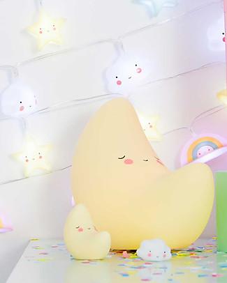 A Little Lovely Company Luce Piccola LED, Luna - Giallo Lampade Comodino