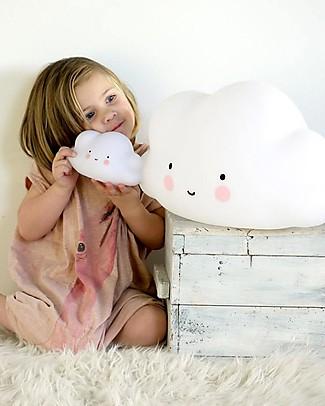A Little Lovely Company Luce Piccola LED, Nuvoletta - Bianco Lampade Comodino
