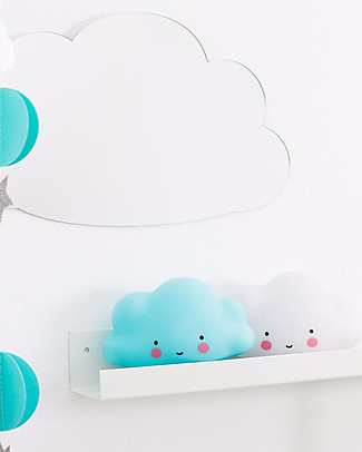 A Little Lovely Company Luce Piccola LED, Nuvoletta - Blu Lampade Comodino