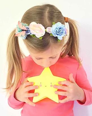 A Little Lovely Company Luce Piccola LED, Stella - Giallo Lampade Comodino
