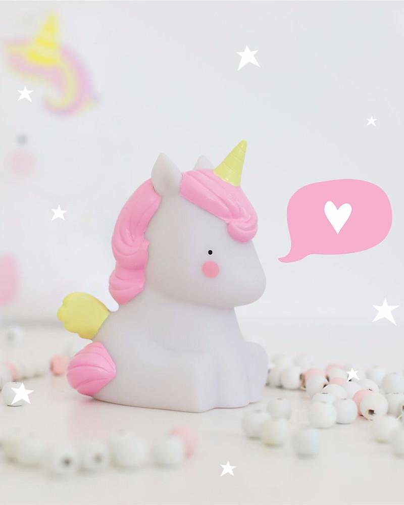 A Little Lovely Company Luce Piccola Led Unicorno Bianco E Rosa