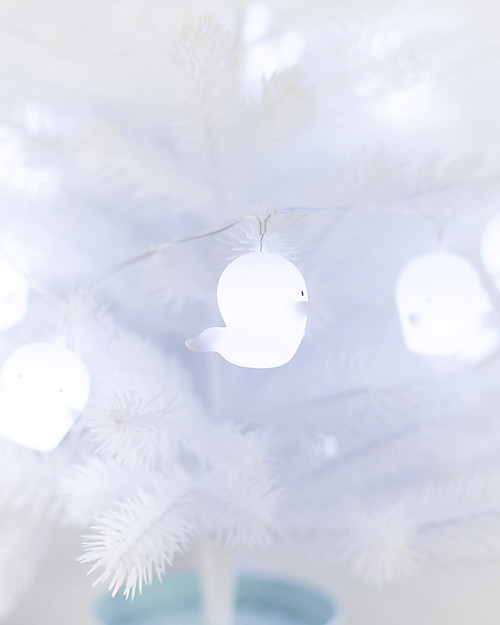 A Little Lovely Company Lucine LED a Ghirlanda, Fantasmini - Bianco Biglietti Di Auguri