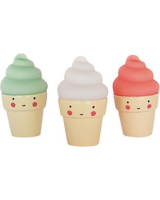 A Little Lovely Company Minis, 3 Coni Gelato - Verde/Bianco/Rossa Decorazioni