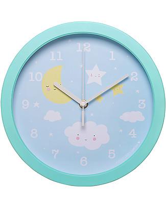 A Little Lovely Company Orologio Nuvoletta, Celeste - Con i numeri! Decorazioni