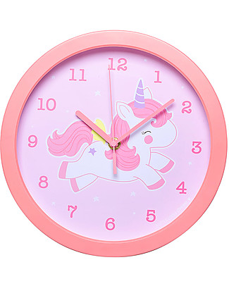 A Little Lovely Company Orologio Unicorno, Rosa - Con i numeri! Decorazioni