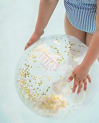 A Little Lovely Company Palla Gonfiabile Glitterata - Perfetta per la spiaggia Giochi Da Spiaggia