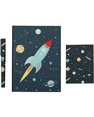 A Little Lovely Company Piccolo Set da Scrivania, (Quaderno, Notebook, Penna) - Spazio Giochi Creativi