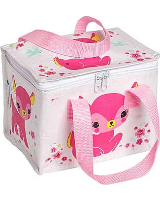 A Little Lovely Company Porta Pranzo Termico, Cerbiatto - Rosa Borse Pic Nic