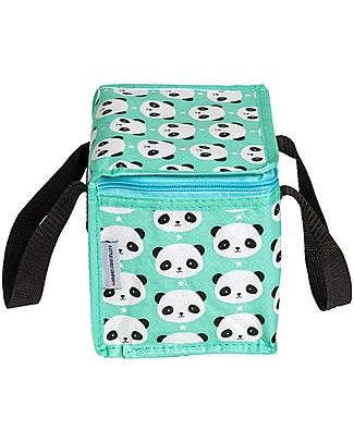 A Little Lovely Company Porta Pranzo Termico, Panda - Menta Borse Pic Nic