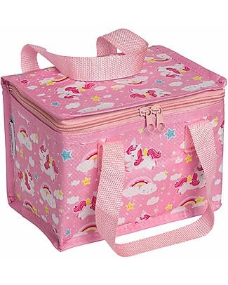 A Little Lovely Company Porta Pranzo Termico, Unicorni - Rosa Borse Pic Nic