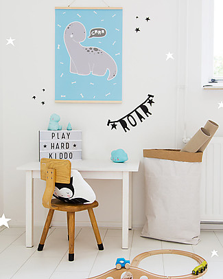 A Little Lovely Company Poster Blu Brontosauro - 50x70 cm Posters