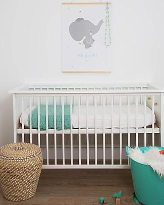 A Little Lovely Company Poster Elefante Bianco e Grigio - 50x70 cm Posters