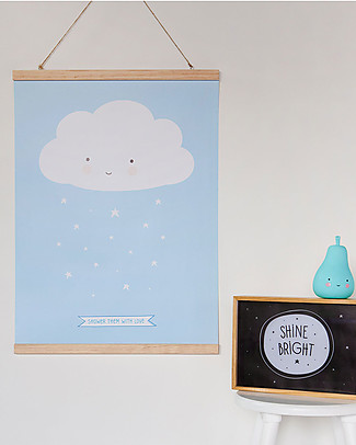 A Little Lovely Company Poster Nuvoletta Blu - 50x70 cm  Posters