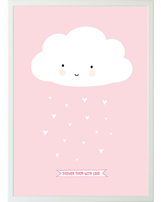 A Little Lovely Company Poster Nuvoletta Rosa - 50x70 cm Posters