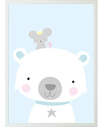 A Little Lovely Company Poster Orso Polare & Co - 50x70 cm Posters