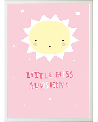A Little Lovely Company Poster per Cameretta, Miss Sunshine - Rosa/Giallo Posters