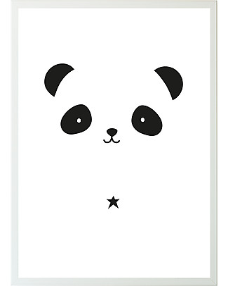 A Little Lovely Company Poster per Cameretta, Panda - Bianco/Nero Posters