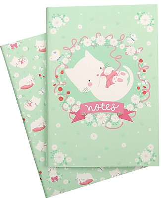 A Little Lovely Company Quadernino Morbido A5, Gattino - Ottima idea regalo! null