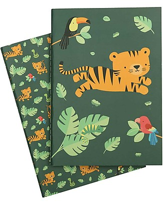 A Little Lovely Company Quadernino Morbido A5, Tigre - Ottima idea regalo! null