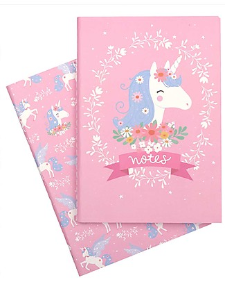 A Little Lovely Company Quadernino Morbido A5, Unicorno - Ottima idea regalo! null