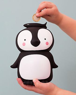 A Little Lovely Company Salvadanaio, Pinguino - Bianco/Nero Salvadanai