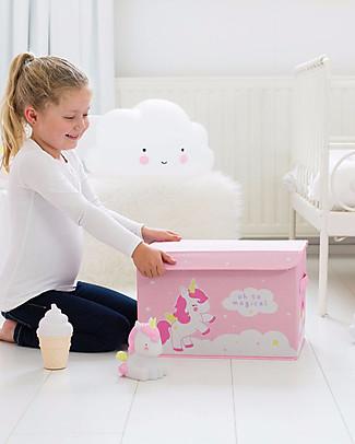 A Little Lovely Company Scatola Pop Up Portagiochi, Unicorno - Rosa Contenitori Porta Giochi