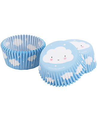 A Little Lovely Company Set 50 Porta Cupcake in Carta - Nuvolette  Piatti e Scodelle
