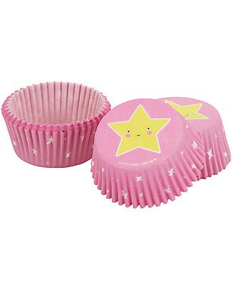 A Little Lovely Company Set 50 Porta Cupcake in Carta - Stelle Piatti e Scodelle