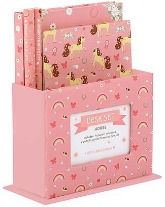 A Little Lovely Company Set da Scrivania, (Quaderno, Notebook, 2 Penne) - Cavallo Giochi Creativi