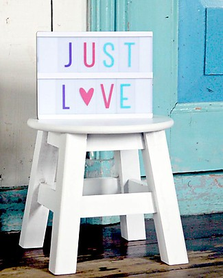 A Little Lovely Company Set Lettere e Simboli per Lightbox, Colori Pastello Lampade Comodino