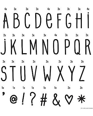 A Little Lovely Company Set Lettere e Simboli per Lightbox, Scrittura a Mano Lampade Comodino