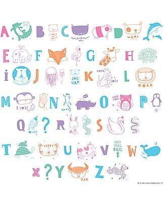 A Little Lovely Company Set Simboli e Lettere per Lightbox, ABC Pastel Lampade Comodino