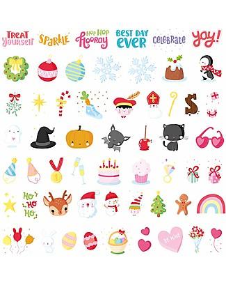 A Little Lovely Company Set Simboli e Lettere per Lightbox, Let's Celebrate Lampade Comodino