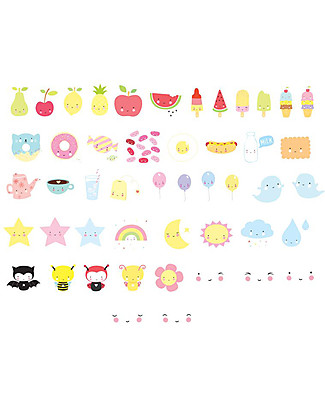 A Little Lovely Company Set Simboli per Lightbox, Kawaii  Lampade Comodino