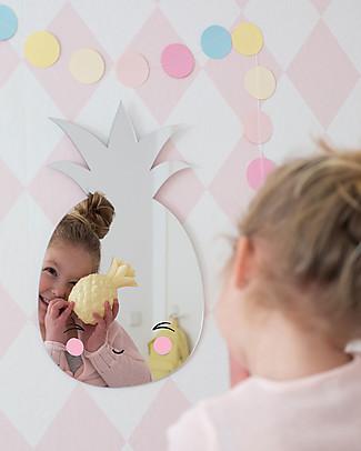 A Little Lovely Company Specchio Infrangibile da Appendere, No Vetro, Ananas - Acrilico Decorazioni