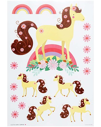 A Little Lovely Company Wall Stickers, Horse - 17 Stickers Wall Stickers