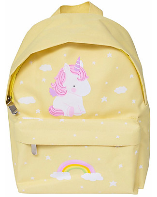 A Little Lovely Company Zainetto Piccolo, Unicorno, 20.5 x 28 x 12.5 cm - Giallo Zaini